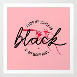 coffee rules III Art Print