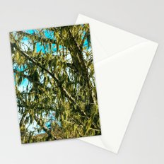 Green Dreams of a Tree draped with Moss Stationery Cards