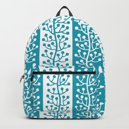 Mid Century Modern Berry Vine Stripes Turquoise Backpack