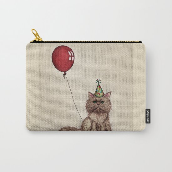 Balloon Love: Kitty Celebration Carry-All Pouch