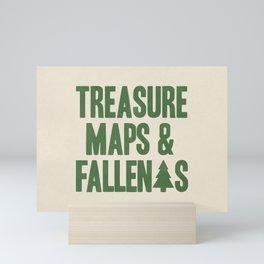 Treasure Maps & Fallen Trees Mini Art Print