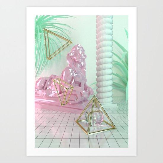 Soothing 3D Feeling Art Print