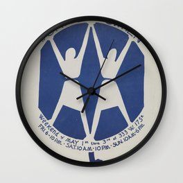 Vintage Poster - 2nd Congress to Unite Women Weekend (1970) Wall Clock
