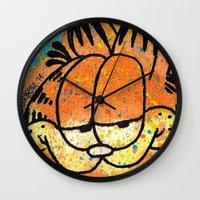 garfield Wall Clocks featuring Garfield by Brieana