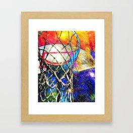 Colorful Basketball Art Framed Art Print