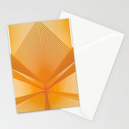 Yellow Abstract pattern geometric Stationery Cards