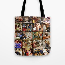 Friends Scene Collage Tote Bag