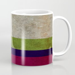 Linen Stripe Blue Stone Washed Coffee Mug