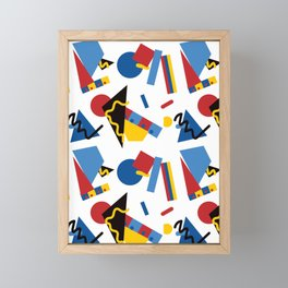 Postmodern Primary Color Party Decorations Framed Mini Art Print