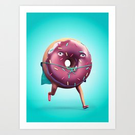 Donut Man Art Print