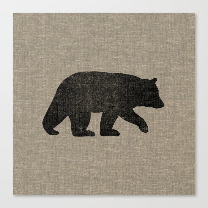 Black Bear Silhouette Leinwanddruck