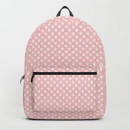 Tiny Paw Prints Pink Blush Pattern Backpack