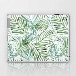 Watercolor palm leaves pattern Laptop & iPad Skin