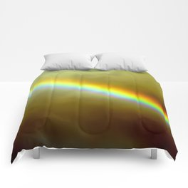 in rainbows Comforters