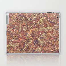 Abstract colorful hand drawn curly pattern design Laptop & iPad Skin