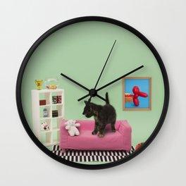 Kitty's home Wall Clock