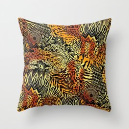 Africa style pattern Throw Pillow