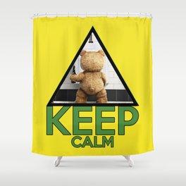 "Keep Calm ""Ted"" Shower Curtain"