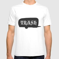 Trailer Trash 2 Mens Fitted Tee White MEDIUM