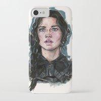 katniss iPhone & iPod Cases featuring Katniss Everdeen by vooce & kat