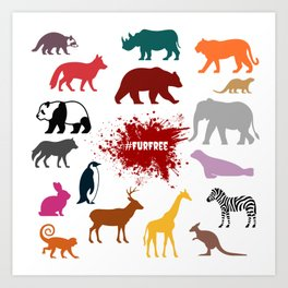 #FurFree ! Art Print