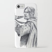 gondor iPhone & iPod Cases featuring The Horn of Gondor by Christine Margeson