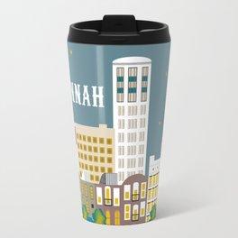 Savannah, Georgia - Skyline Illustration by Loose Petals Travel Mug