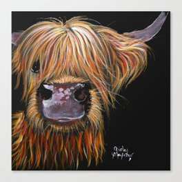 Scottish Highland Cow ' HENRY ' by Shirley MacArthur Canvas Print