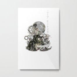 Nier Automata 2B rain Metal Print