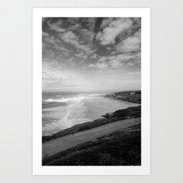Praia do Norte BW Art Print