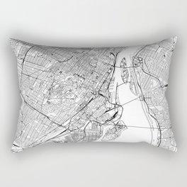 Montreal White Map Rectangular Pillow