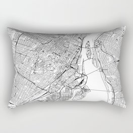 Montreal White Map Rectangular Pillow