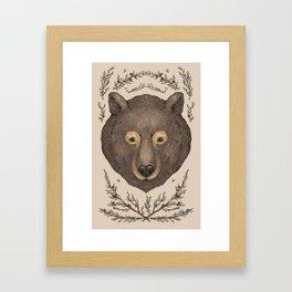 The Bear and Cedar Framed Art Print