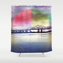 Crescent City Connection Bridge Shower Curtain