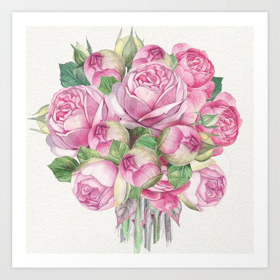 Flowers bouquet #18 Art Print