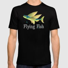 F is for Flying Fish Mens Fitted Tee MEDIUM Black