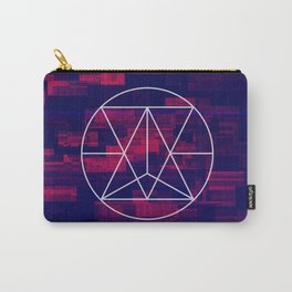 Glitch Mandala Carry-All Pouch
