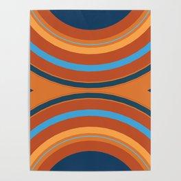 Retro Double Rainbow Poster