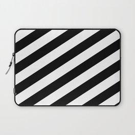 Diagonal Stripes Black & White Laptop Sleeve