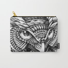 Ornate Owl Head Carry-All Pouch