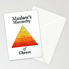Maslow's Hierarchy of Cheese Stationery Cards