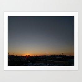 Manhattan @ Sunset Art Print