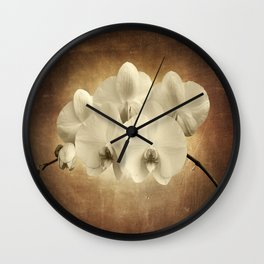 Vintage Flowers Digital Collage 8 Wall Clock