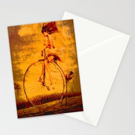 """ The life, it is as a bicycle, it is necessary to move forward not to lose the balance. "" Stationery Cards"