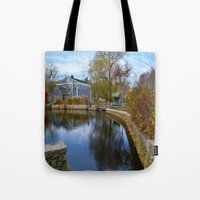 cape cod Tote Bags featuring Cape Cod by Yleniuccia89