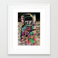 spaceman Framed Art Prints featuring Spaceman by Mr. E