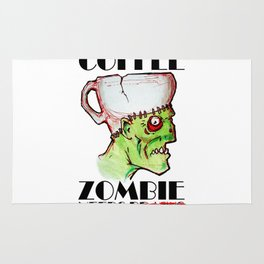 coffee zombie Rug