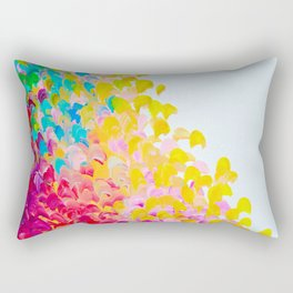 CREATION IN COLOR - Vibrant Bright Bold Colorful Abstract Painting Cheerful Fun Ocean Autumn Waves Rectangular Pillow