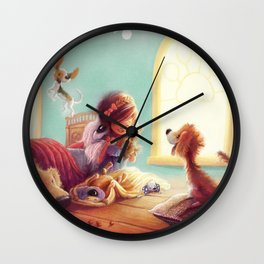 Snow White and the Seven Doggies Wall Clock