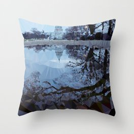 Capitol Reflections Low Poly Geometric Triangles Throw Pillow